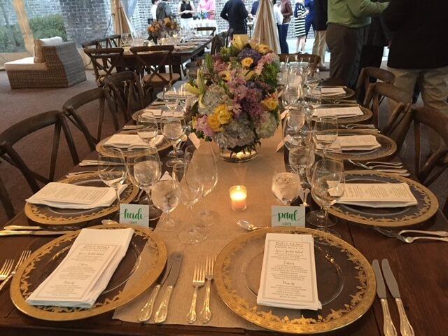 Kate Bailey Tournament event - table settgin