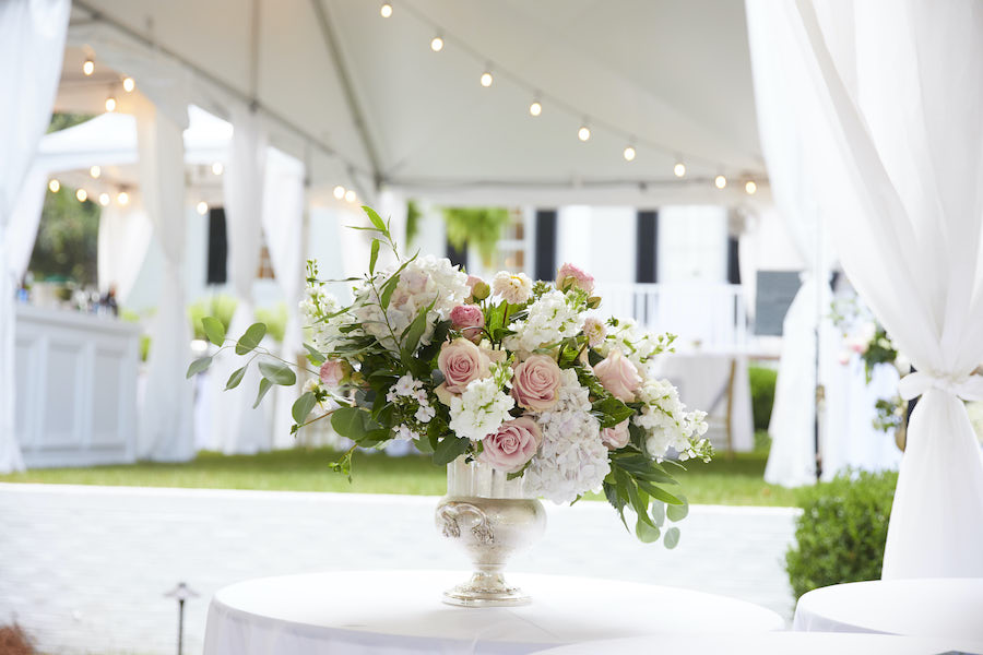 Floral Centerpiece on outdoors venue table