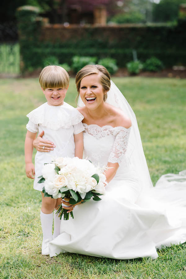 bride with ringbearer